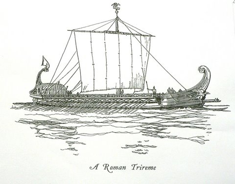 roman warship -- trireme