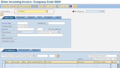 SAP e-mory: SAP MIRO Enter Purchase Invoice with PO
