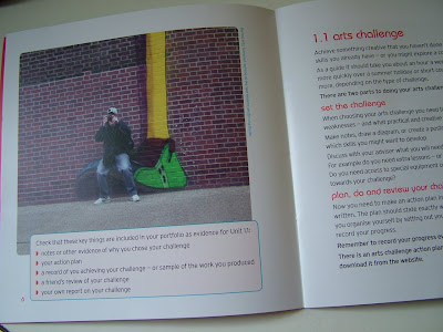 dads matter too photo in new arts award booklet