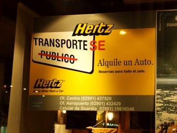Campaña Hertz Argentina contra el transporte público