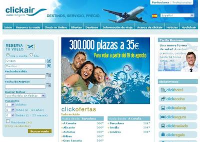 Marketing low cost - Clickair