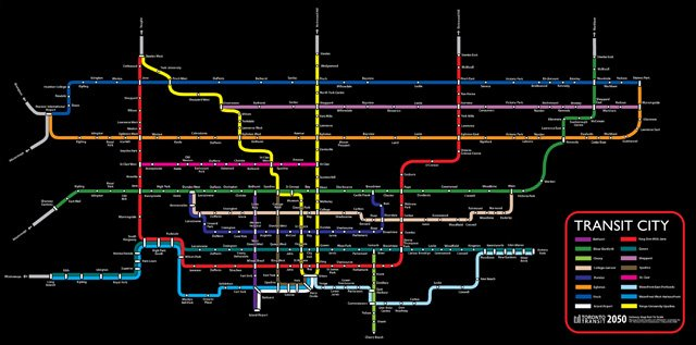 Fantasy Toronto Subway Map.Ttc Fantasy Maps The Intrepid