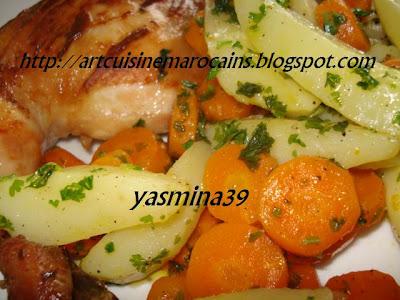 Art et cuisine marocains c de poulet la vapeur - Cuisse de poulet a la poele ...