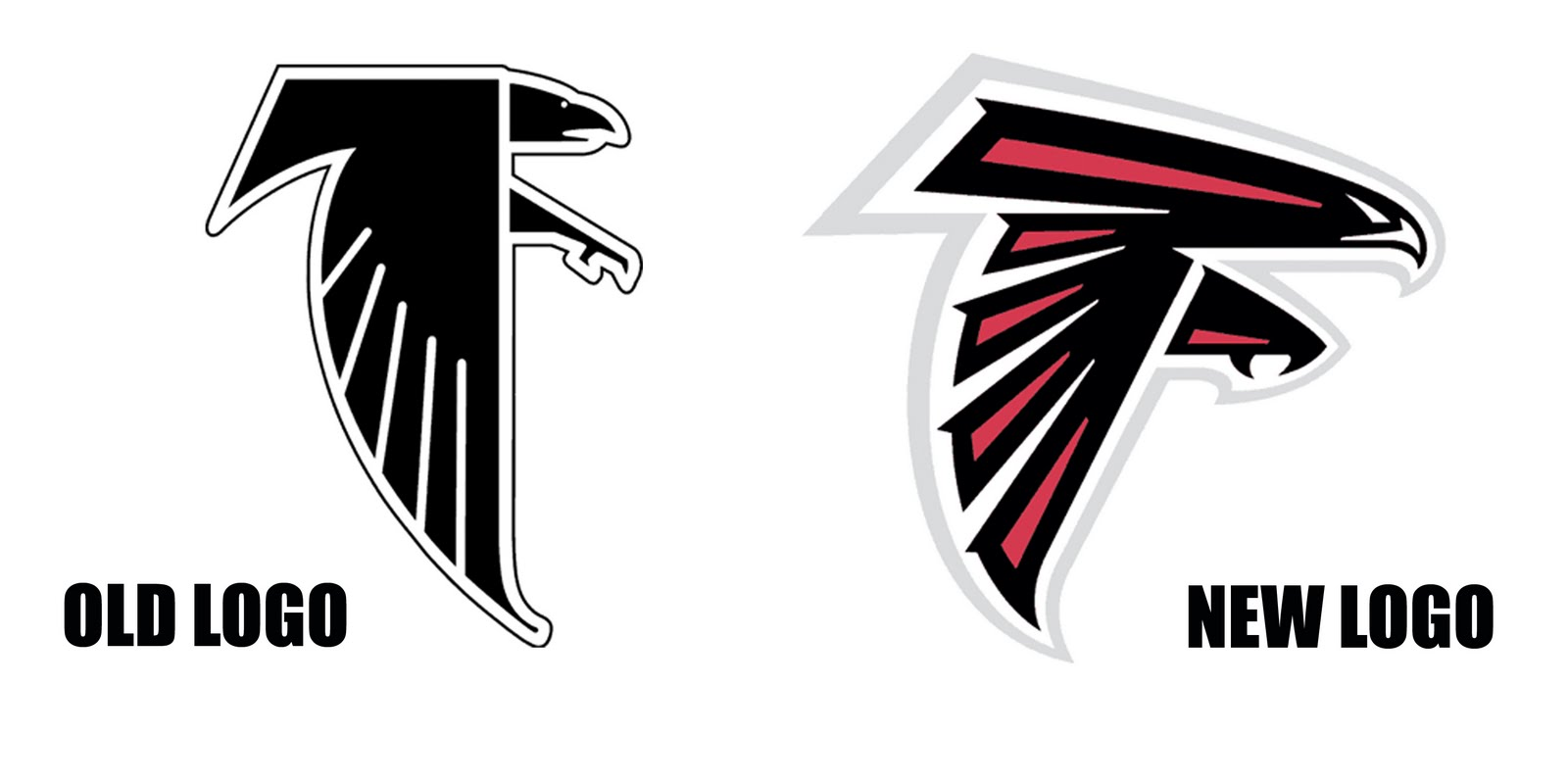 Images Of The Atlanta Falcons Football Logos: Carolina Panthers Change Logo For First Time In Team