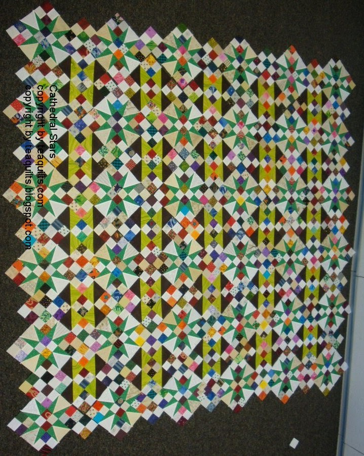 Cathedral Stars Quilt Pattern : cathedral, stars, quilt, pattern, Teaquilts: