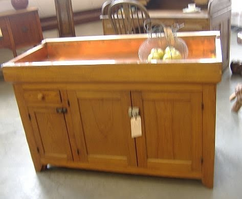 Consign Of The Times Antique Copper Lined Dry Sink