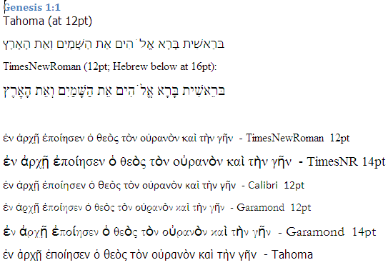 Biblical Studies and Technological Tools: Greek and Hebrew