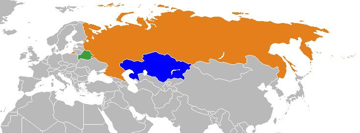 Kazakhstan Russia Map.Mina Breaking News Russia Belarus Kazakhstan Form Union