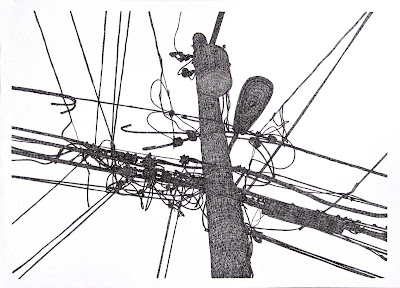 Michael McGuire: Telephone Pole Drawings