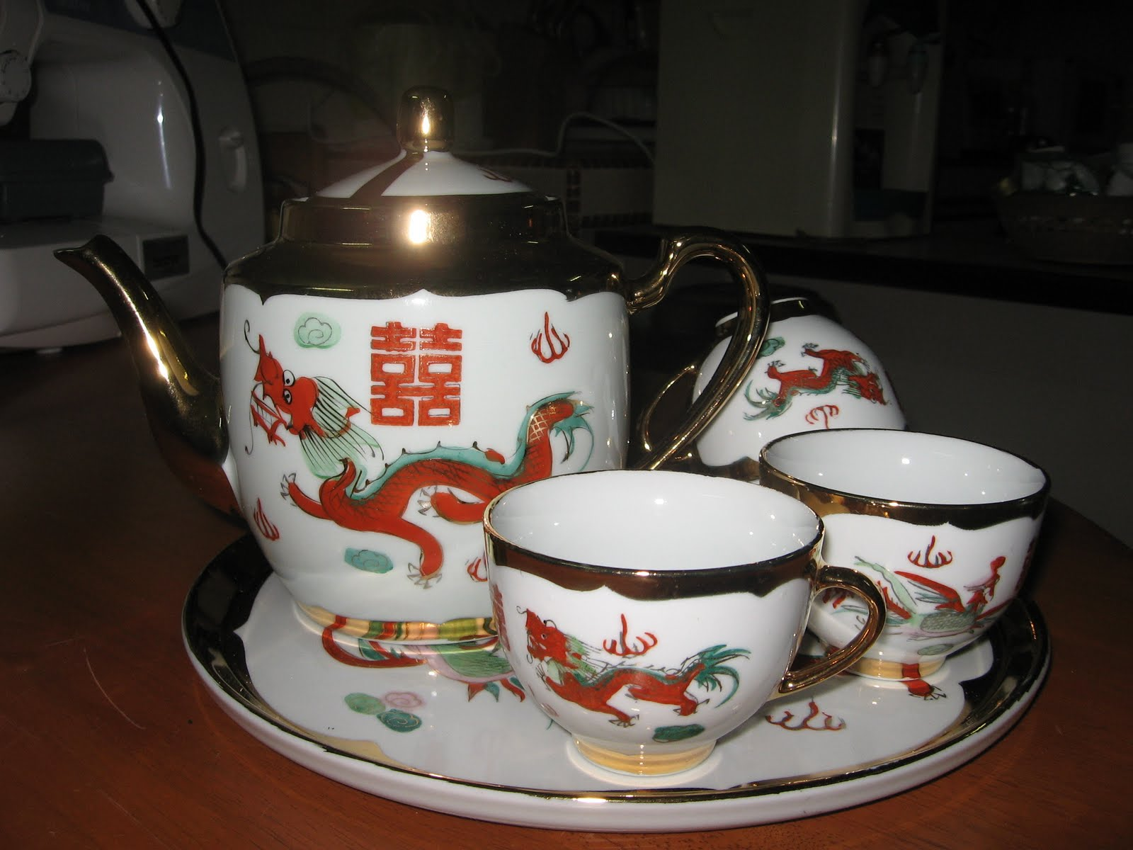 galleria pinggan lama: Wedding tea set