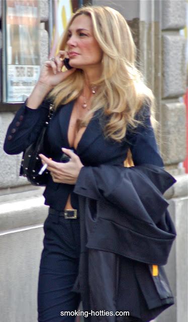 Mature Blonde  Smoking Hotties-3584