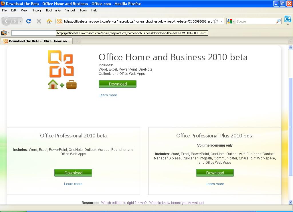 free download microsoft office 2010 beta version