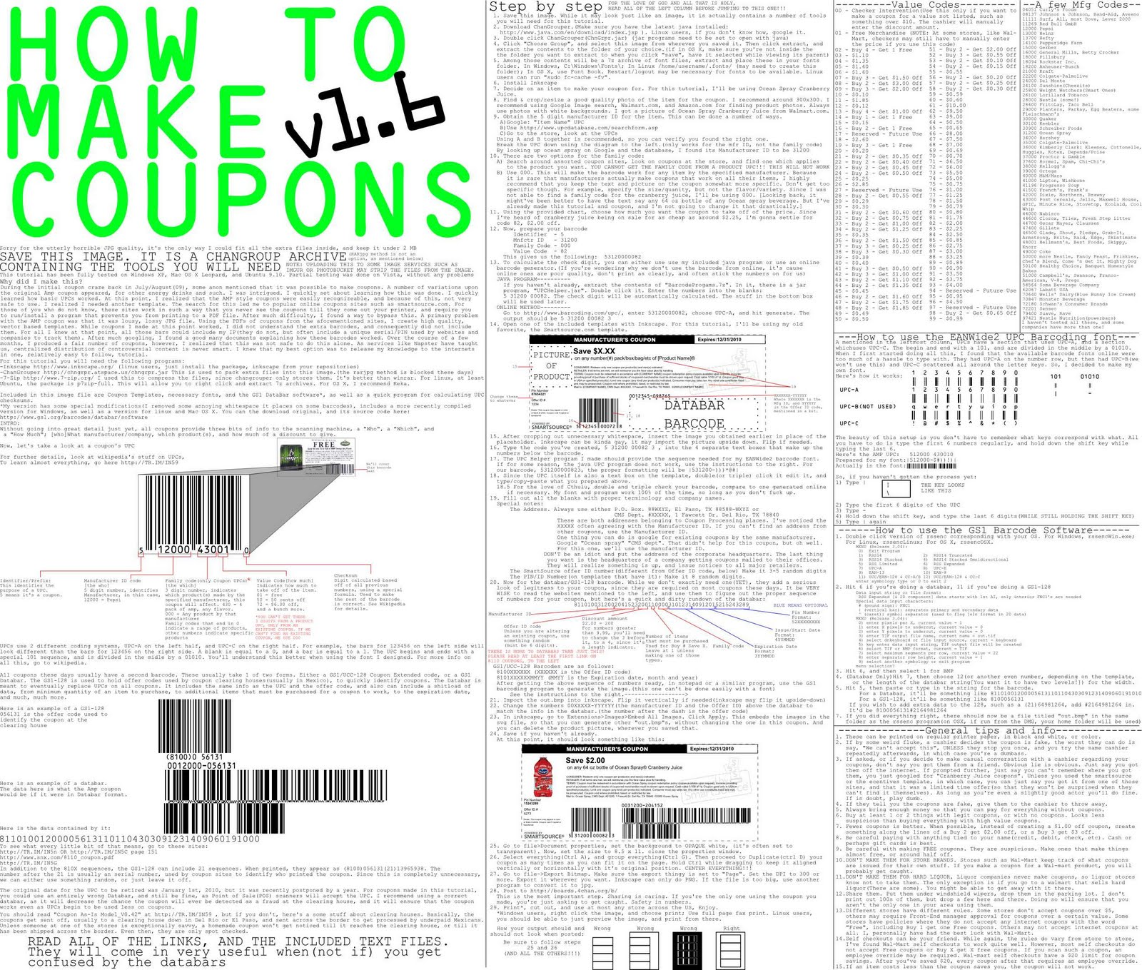 4chan coupon making guide / Deals gone wild kitchener