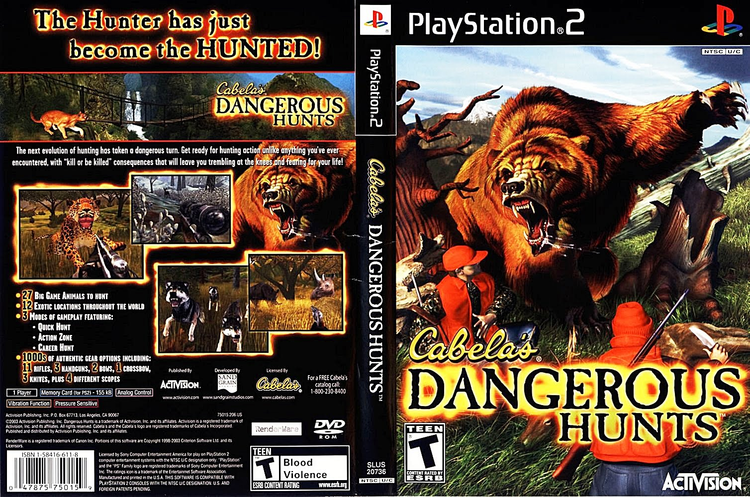 PS2 - Cabela´s Dangerous Hunts