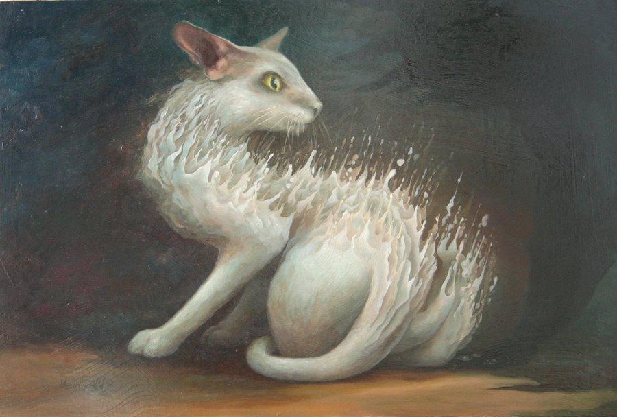 Chat effrayé par Heidi Taillefer