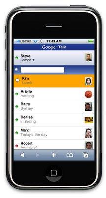 version google talk pour iphone