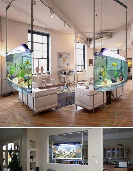 Funtrublog: Awesome Aquariums   5 Cool Modern Fish Tank Designs