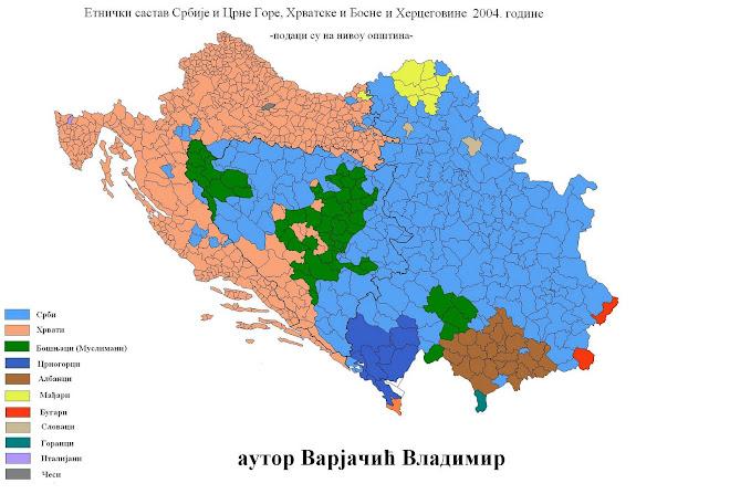 Ethnic population west Balkan