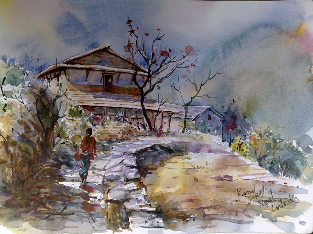 Beautiful Watercolor Painting Landscapes