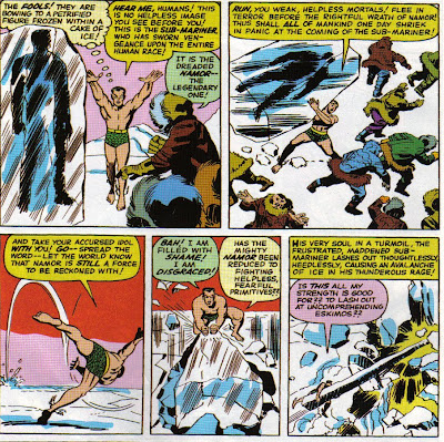 Why does Namor say, 'take your accursed idol with you,' then throw it into the ocean?