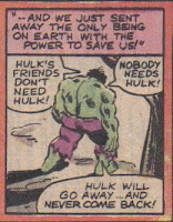 The Hulk was three states away, before he realized he wasn't mad at Betty...