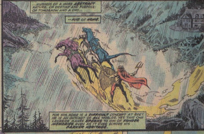 The Black Knight seems to fall into this as well: a flying horse that may as well be mass transit.