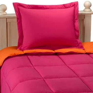 incredible hot pink orange bedroom | Pink + Orange: Bed Spread