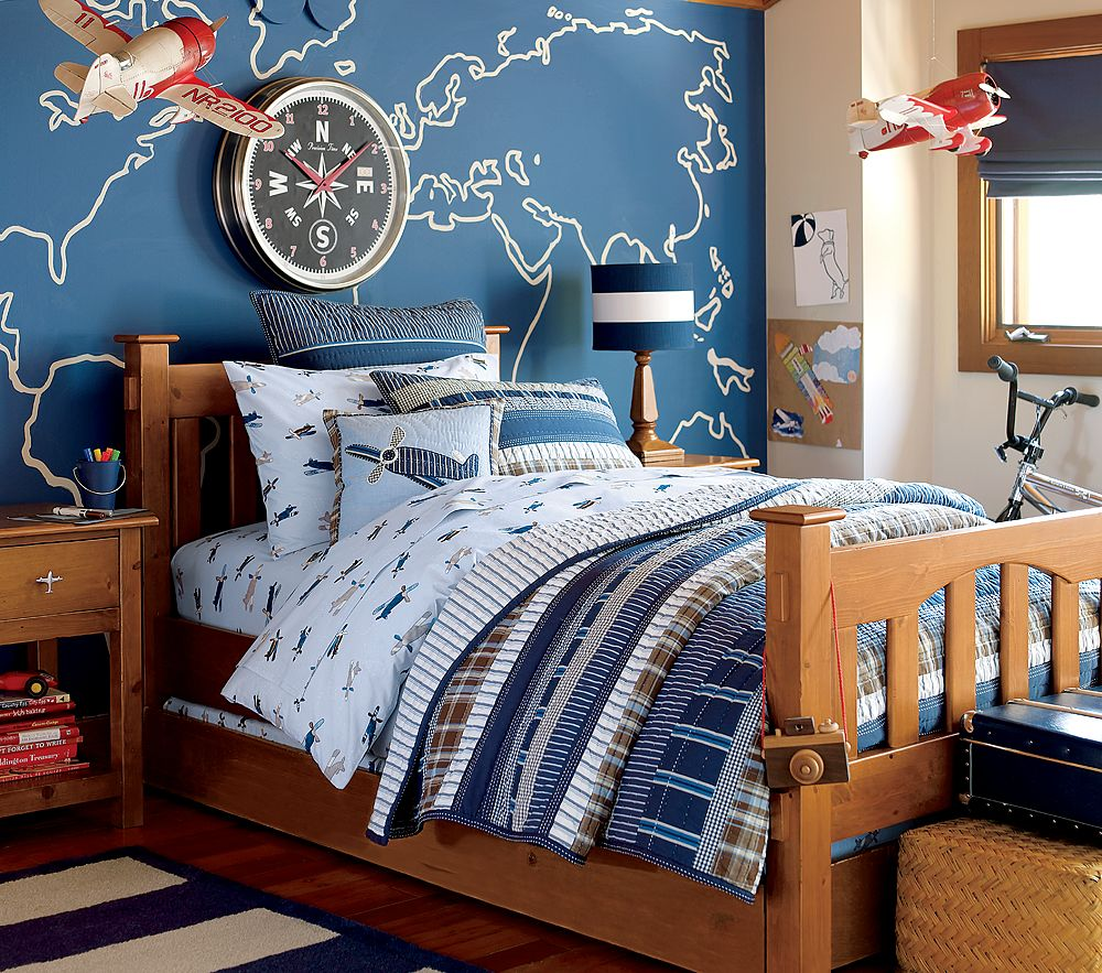 Boy Bedroom Ideas Decor: Little Inspirations: Stripe Quilt