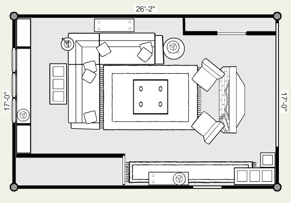 Small living room furniture arrangement template for Furniture templates for room design