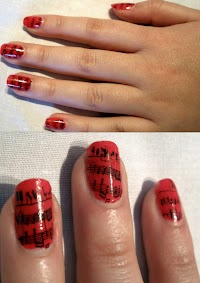 Rock And Roll Nails With Music Notes Oh My Nails