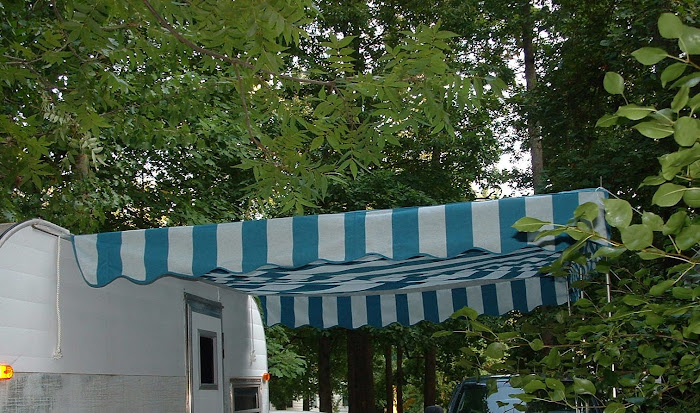 Vintage Awnings Custom Ordered Fabric Rock Guard Awning