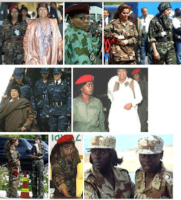 libya quaddafi female body guards