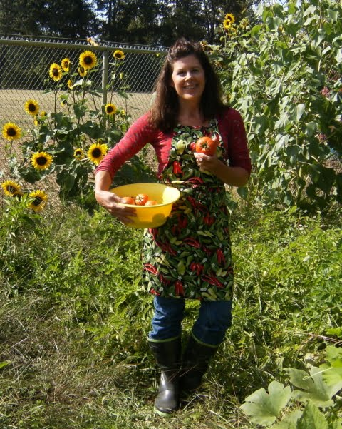 Me In My Garden Picking Tomatoes