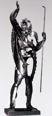 PABLO GARAGALLO, EL Gran Profeta, 1933; escultura metálica de hierro; Museo Centro de Arte Reina Sofía, Madrid