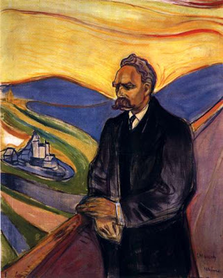EDVARD MUNCH: Friedrich Nietzsche, 1906; Charcoal, pastel and tempera on paper; 200 x 130 cm; Munch Museum, Oslo
