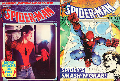 Does the guy in the right image sorta look like a drawing of the version of Peter Parker in the left one to you?