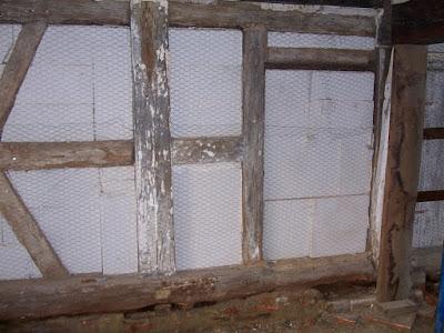 siporex beton cellulaire entre les colombage avec enduit