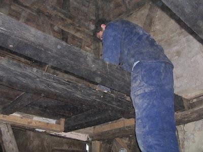 plancher en chêne vetuste