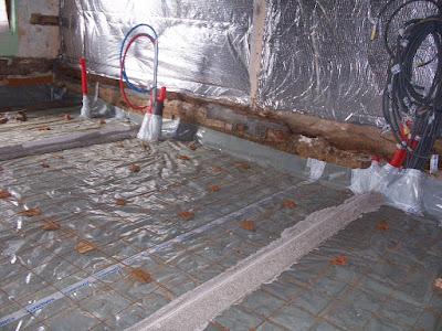 feraillage avant de couler le beton