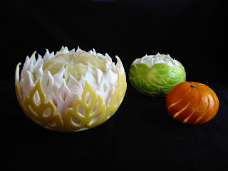 Резные апельсины.