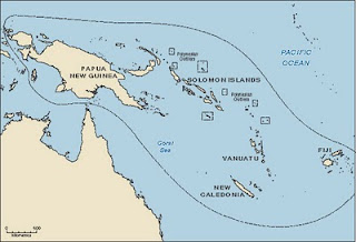 Melanesia map