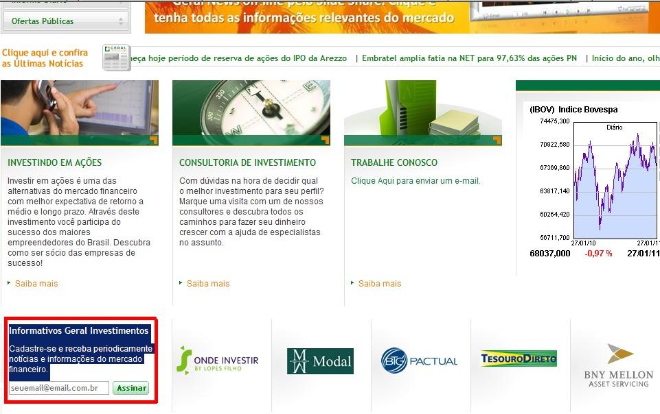 Só para Mulheres - Geral Investimentos  Janeiro 2011 0f3ff088ed76a