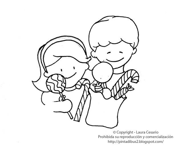 Dibujos para imprimir y colorear: Dibujo de Hansel y