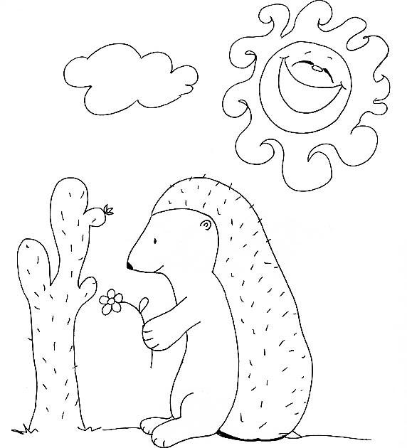 paint a drawing: Dibujo de un erizo para imprimir y colorear!