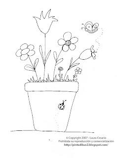paint a drawing Dibujo de una planta con flores para colorear