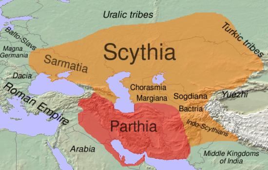 MAP OF SCYTHIA (GOG  & MAGOG)