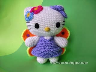Связала еще одну амигуруми Hello Kitty.  Думаю, что пока хватит...