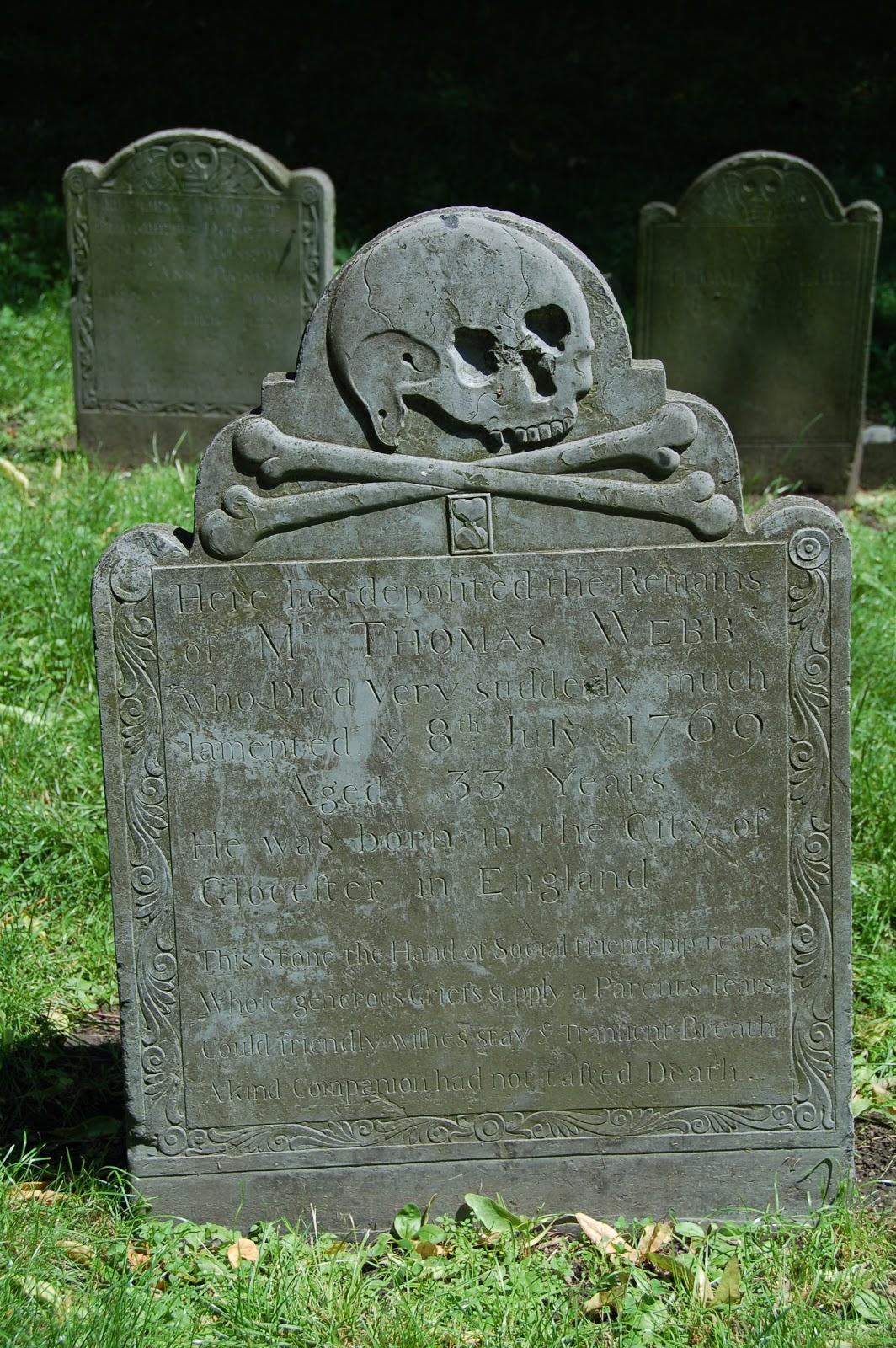 vast public indifference gravestone of the day thomas webb
