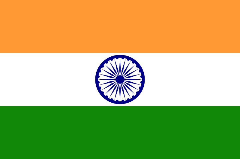 India Country Flag: Gersyko Postcards: INDIA