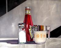 Ketchup Still Life Diner Painting
